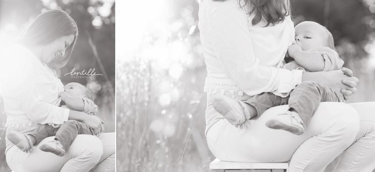 Nursing portrait outdoors by Lentille Photography