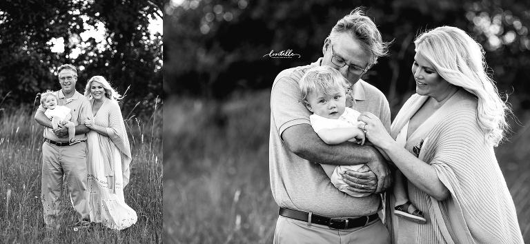 Dad hugging his son