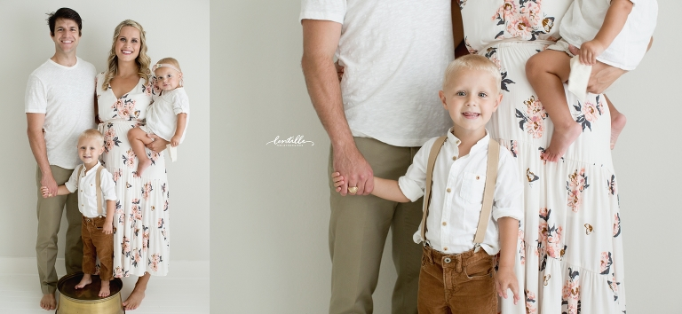 Little boy hold his daddy's hand