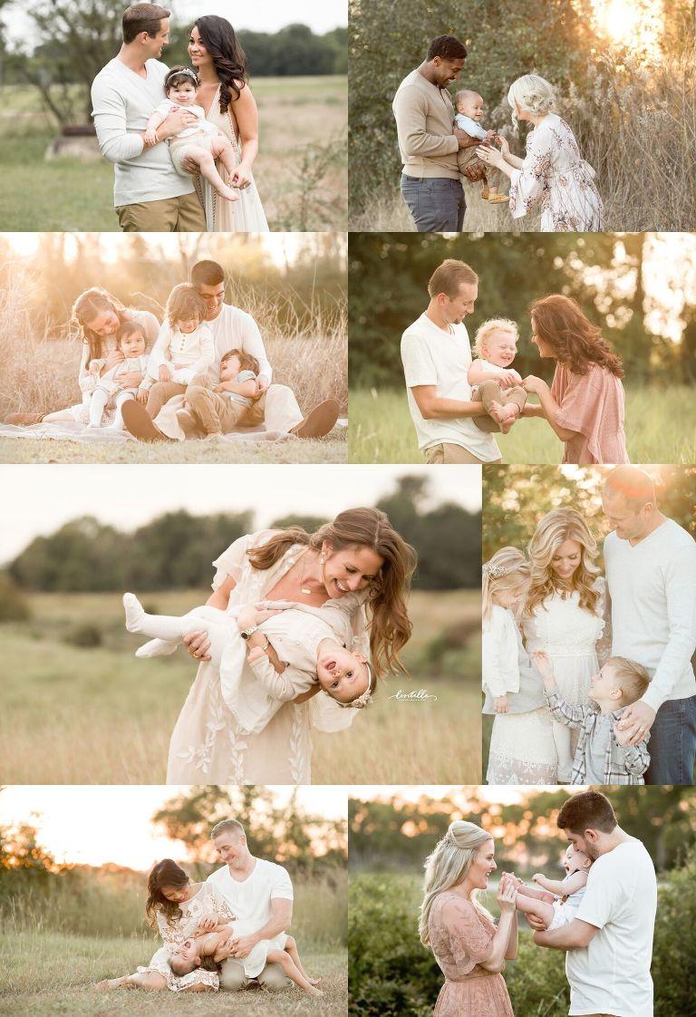 Houston Family Photographer collage
