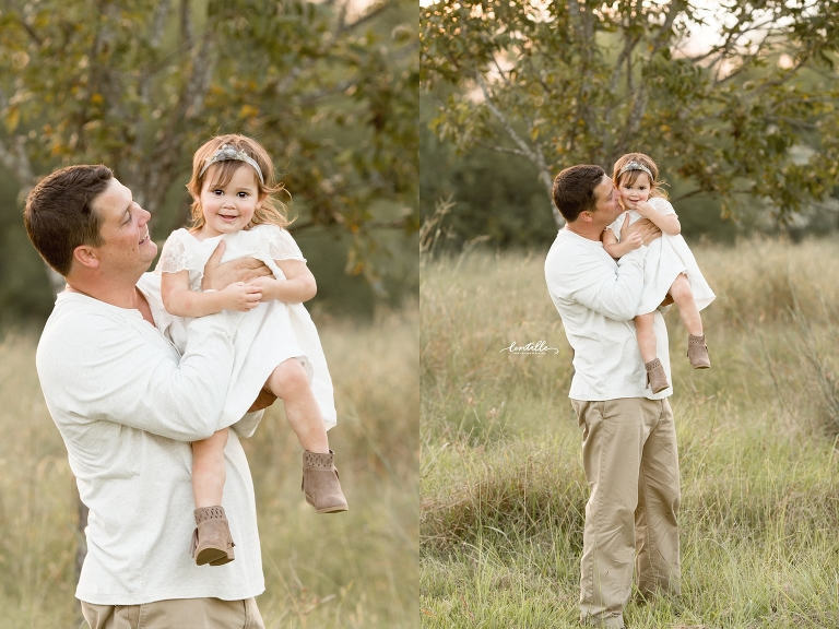 A father plays with his daughter | Lentille Photography | Houston Family Photographer