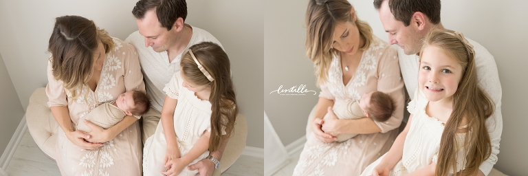 A family adores their new baby | Lentille Photography | Houston Newborn Photographer