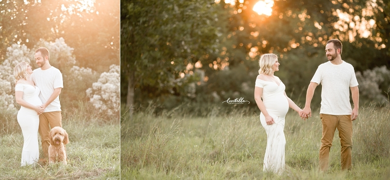 A couple holds hands | Lentille Photography | Houston Maternity Photographer