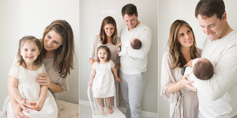 A family stands together | Lentille Photography | Houston Newborn Photographer