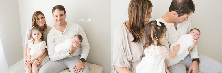 A family sits together | Lentille Photography | Houston Newborn Photographer