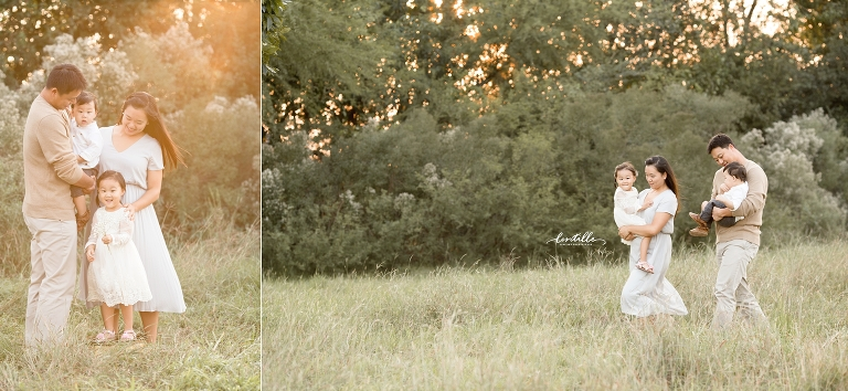 Parents hold their children | Lentille Photography | Houston Family Photographer