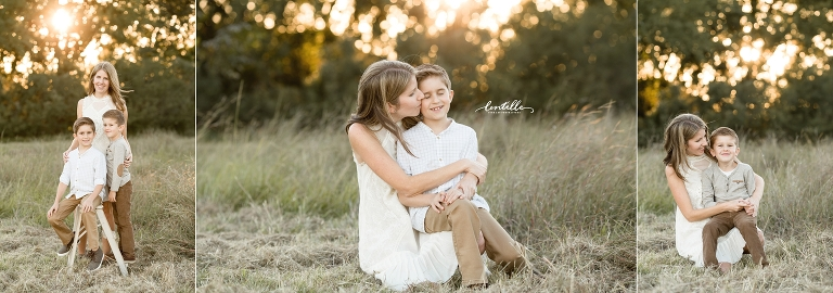 A mother kisses her son  | Lentille Photography | Houston Family Photographer