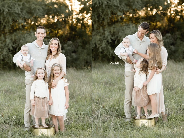 A family stands together | Lentille Photography | Houston Family Photographer