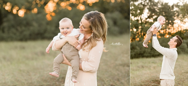 A mother holds her baby | Lentille Photography | Houston Family Photographer