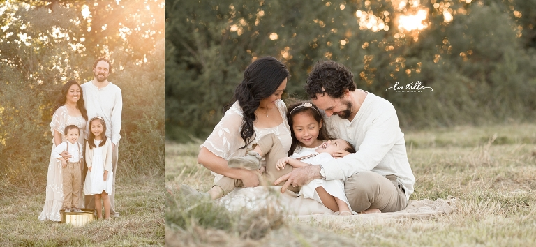 A family sits together | Lentille Photography | Houston Family Photographer