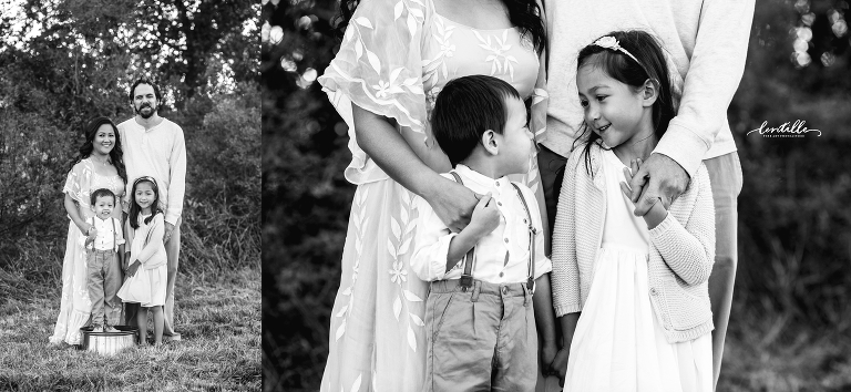 Siblings share a joke | Lentille Photography | Houston Family Photographer