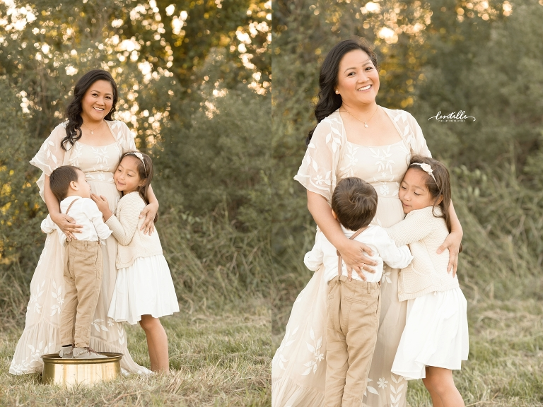 A mother holds her babies | Lentille Photography | Houston Family Photographer