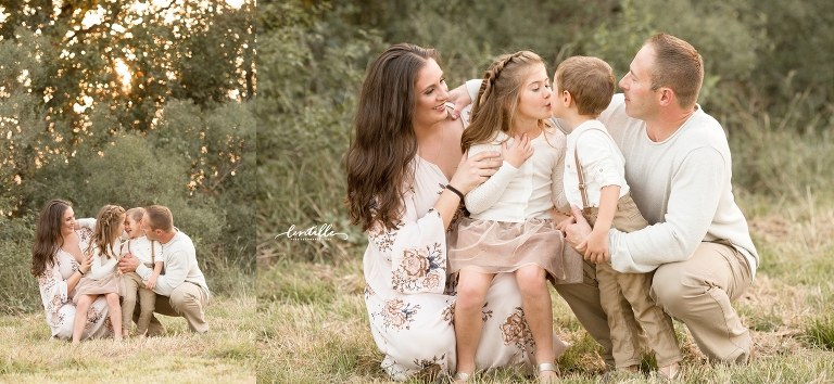 Siblings kiss  | Lentille Photography | Houston Family Photographer