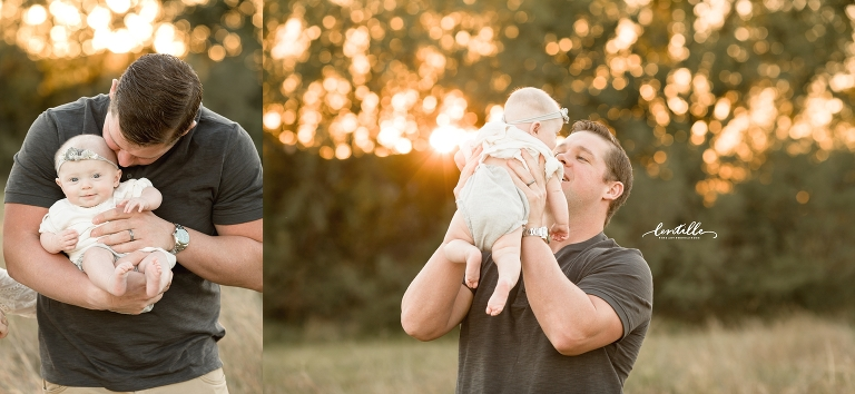 A dad plays, captured by Lentille Photography, a Family Photographer in Houston