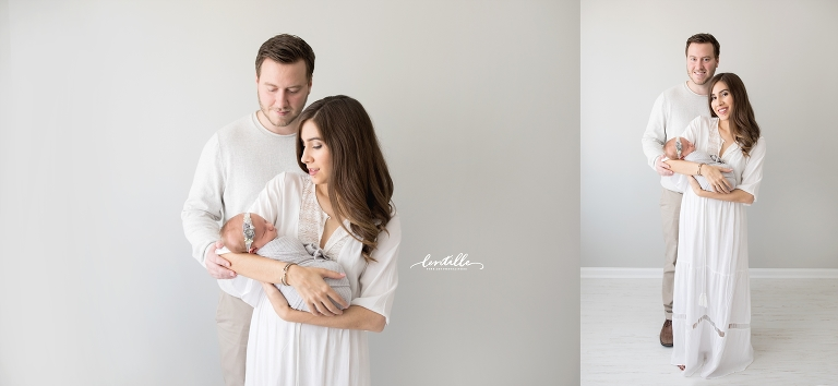 A couple adores their baby  | Lentille Photography | Newborn Photographer in Houston