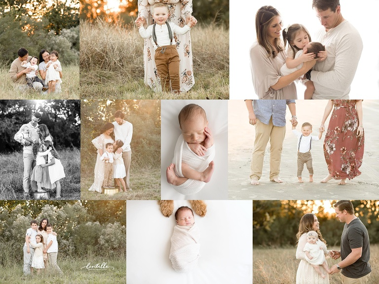 A New Year collage is created by Lentille Photography, A Houston Family Photographer