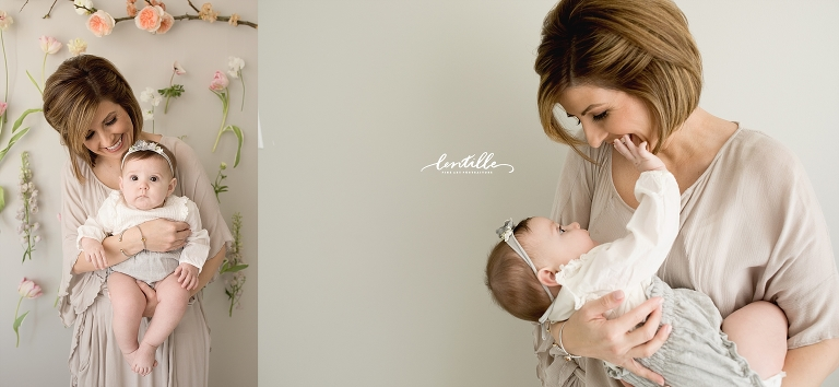 A mother adores her baby girl on her half birthday. | Lentille Photography