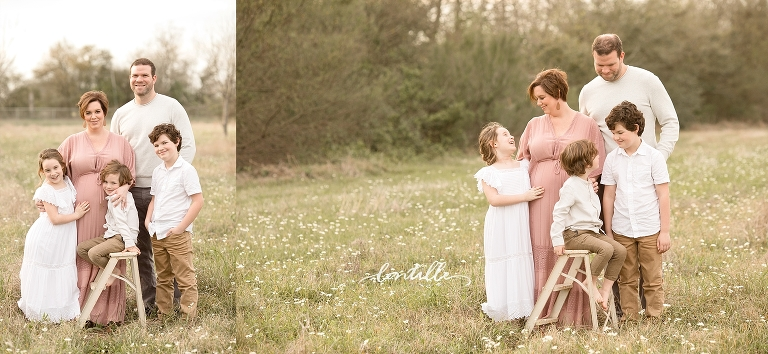 A family enjoys a warm day together | Houston Maternity Photographer