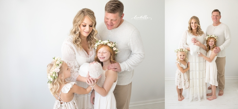 Newborn Pictures With Flowers | Lentille Photography