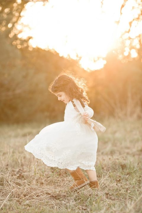 Precious Moments of dancing child in Sugar Land, TX field
