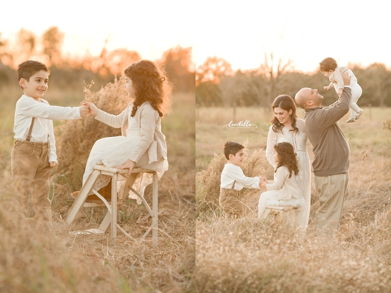 Houston family field session