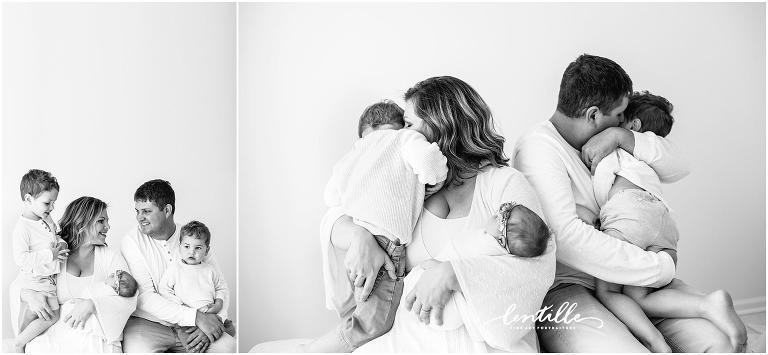 Houston in studio newborn photography session