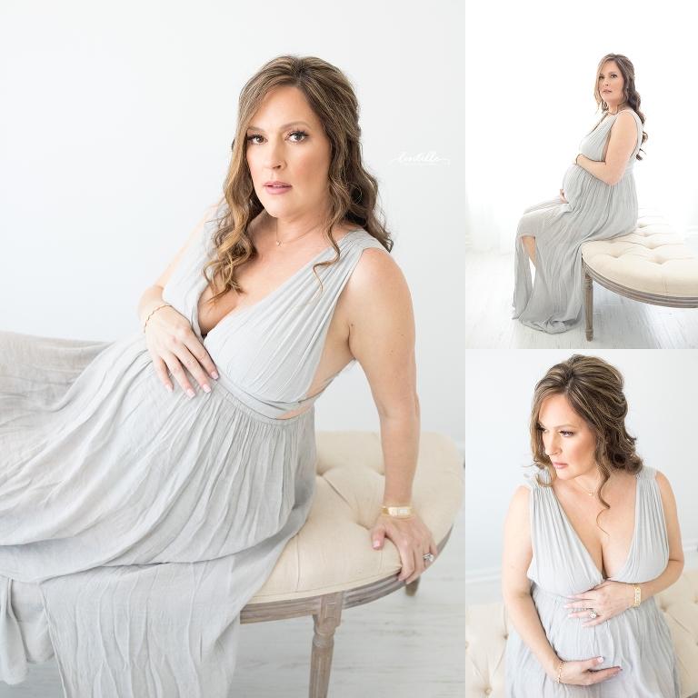 Elegant Houston maternity studio session