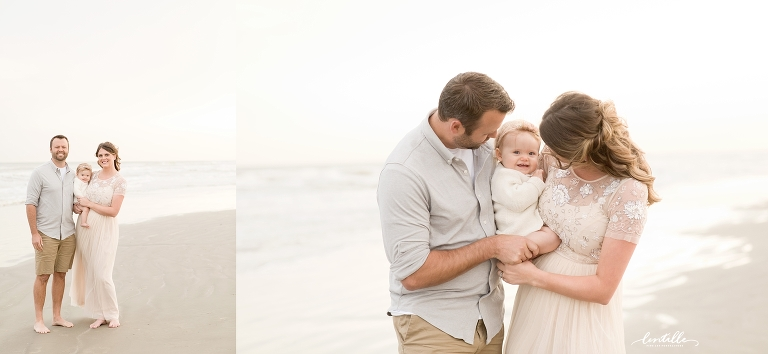 Galveston, TX family beach photography session