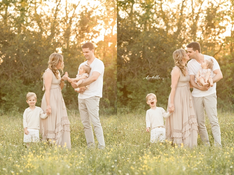 Houston family of four outdoor session