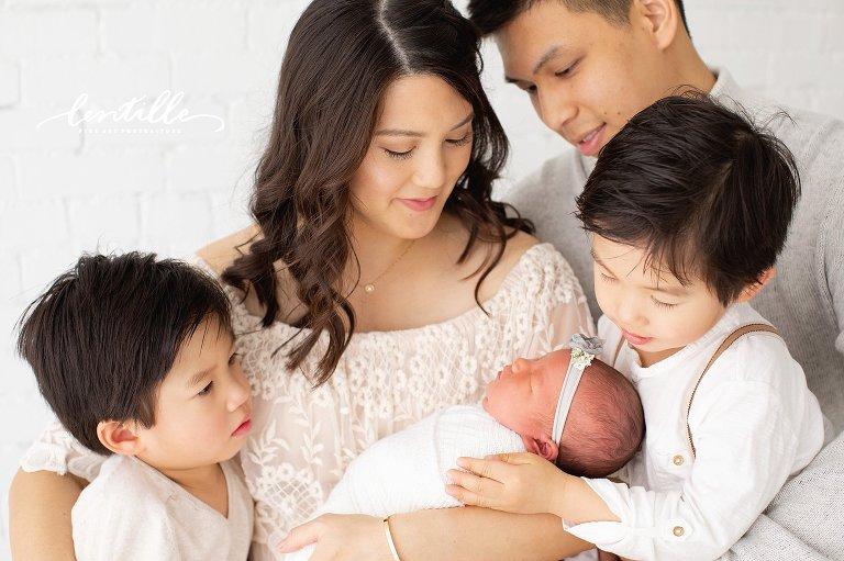 Newborn Family Photographer Houston